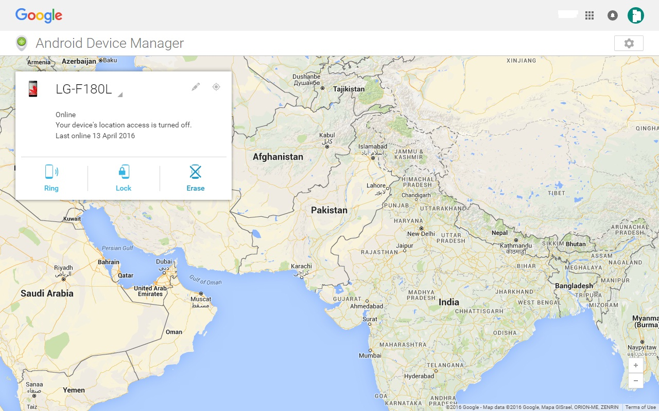 unlock android phone using android device manager