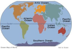 How many Oceans are there in the World and what is their Geography