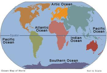 many Oceans are there in the World and what is their Geography